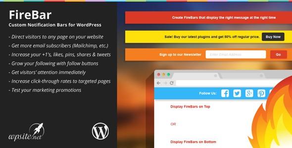 FireBar - Notification Bars for WordPress