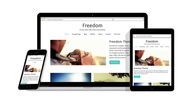 Freedom - A Perfect Free WordPress Photo Blogging Theme