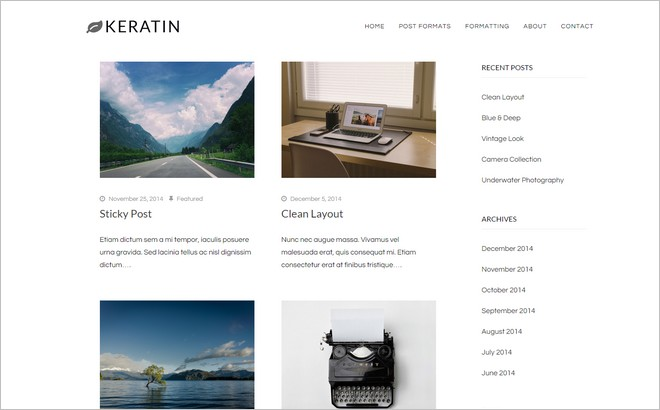 New Free WordPress Themes with Minimalist Design