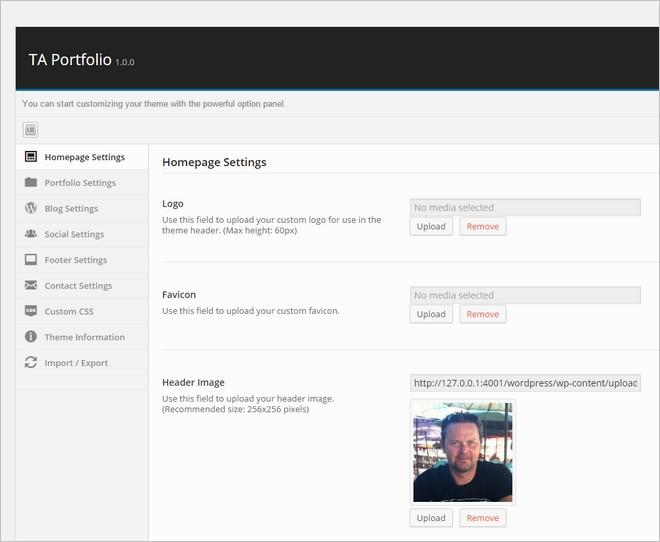 TA Portfolio - A Free One Page Portfolio WordPress Theme with Flat Design