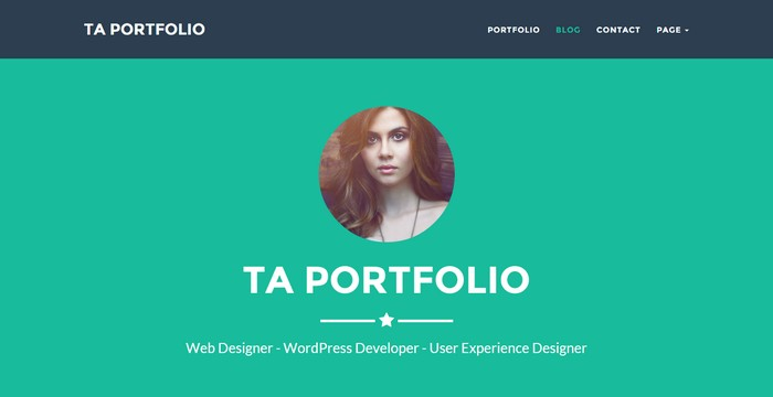 TA Portfolio - A Free One Page Portfolio WordPress Theme with Flat Design