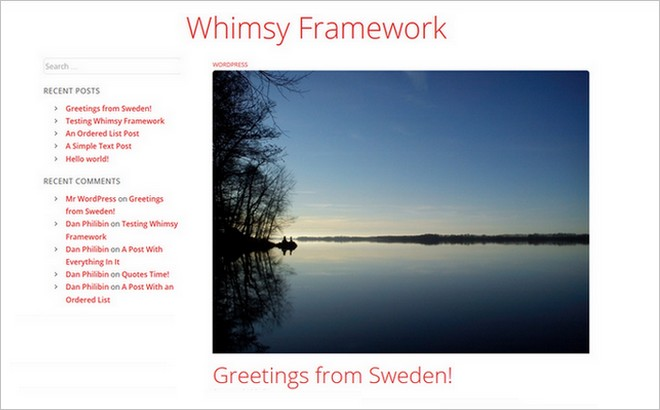 Whimsy Framework - A Free WordPress Theme With Plenty of Baked-in Extras