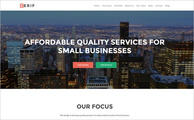 New Premium WordPress One Page Themes for January 2015