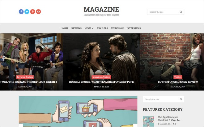 Magazine - A Trendy WordPress Theme for Bloggers by MyThemeShop