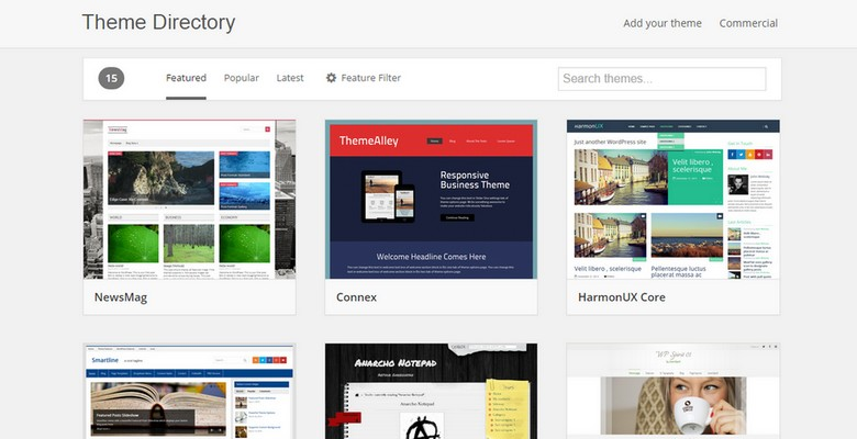 WordPress Theme Directory Finally Redesigned
