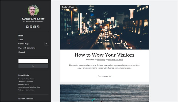 Top 10 New Free WordPress Themes March 2015 Edition