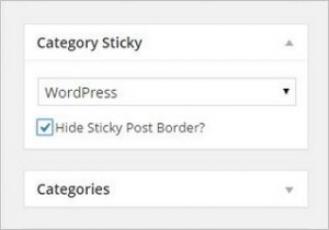 How to add Sticky Post in WordPress for Categories