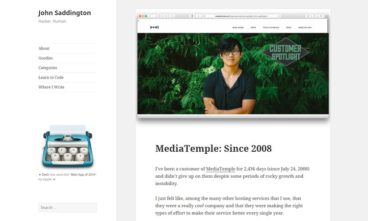 How to Choose a WordPress Theme for Your Blog by John Saddington