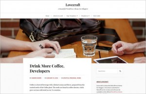 Lovecraft - A Free Blogger WordPress Theme by Anders Noren