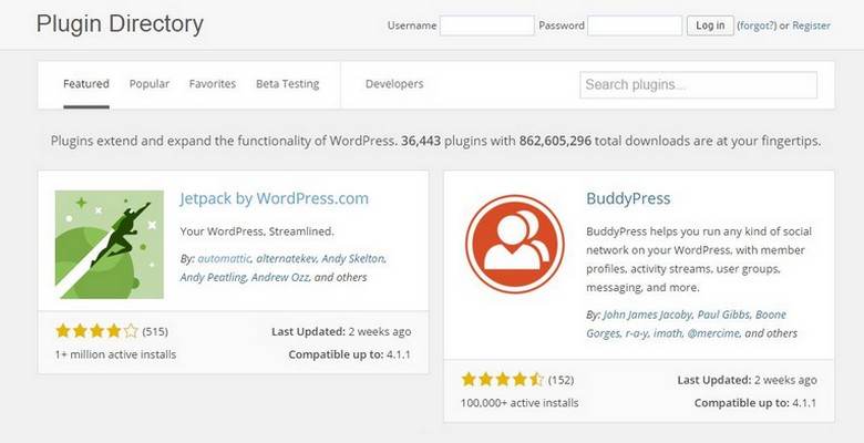 WordPress Plugin Directory Now with New Design