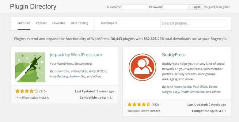 WordPress Plugin Directory Now with New Design