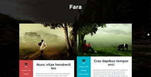 Fara - A Free Blogging WordPress Theme that Stand Out from the Crowd