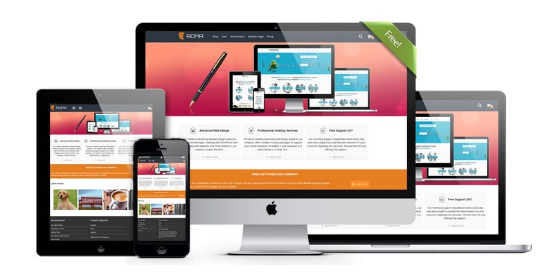 Roma - A Feature-rich Free WordPress Theme by Alttvision