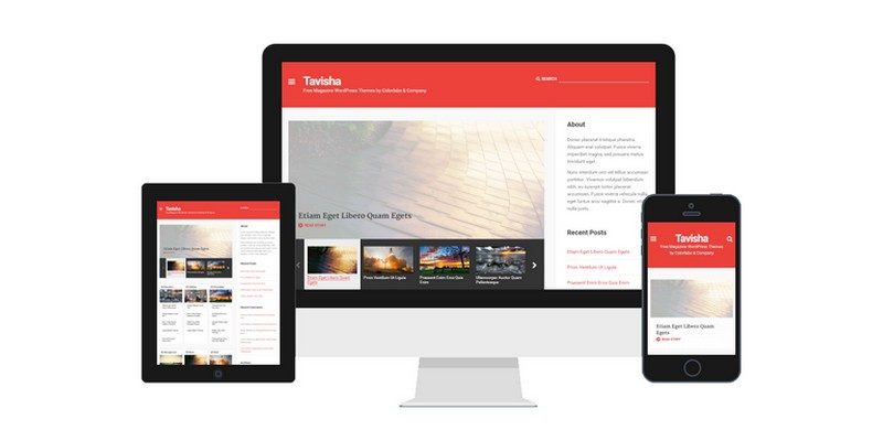 Tavisha - A Free Magazine WordPress Theme from  Colorlabs