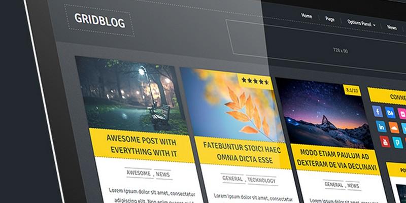 GridBlog - A Modern Grid-Based Free WordPress Theme from MyThemeShop