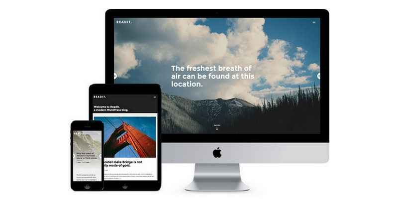 Readit - A Free Blog WordPress Theme That Focuses on Readability