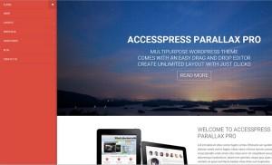 AccessPress Parallax PRO Review – A Beautiful WordPress Theme with Parallax Design