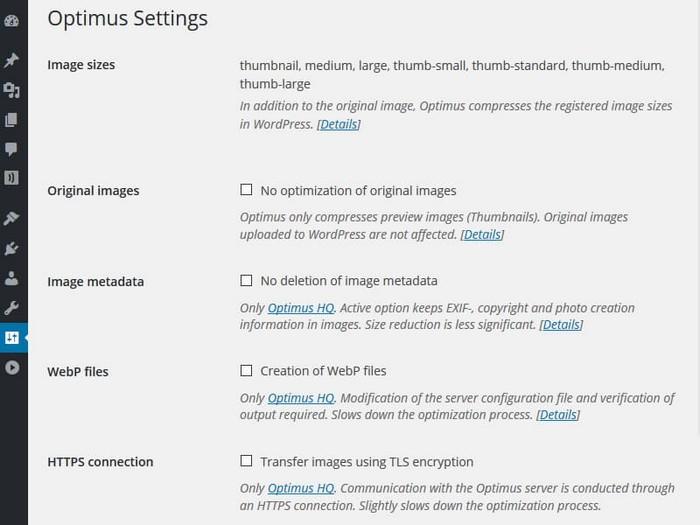 Optimus Image Optimizer: Lossless Compression WordPress Plugin
