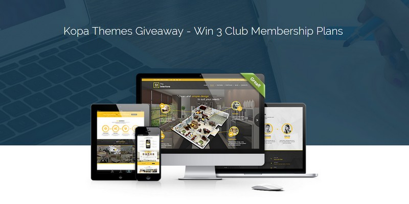 Kopa Themes Giveaway - Win 3 Club Membership Plans