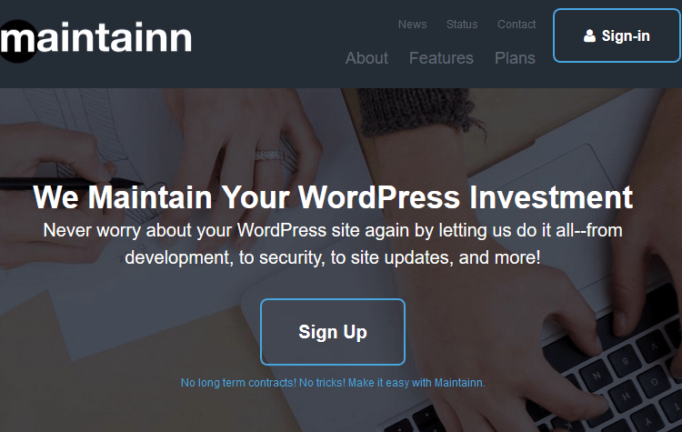 WordPress Maintenance Service - Maintainn
