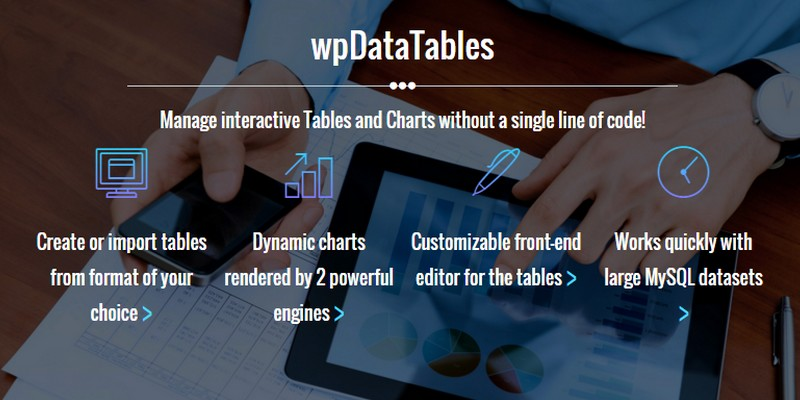 wpDataTables: A Powerful WordPress Table and Charts Manager Plugin