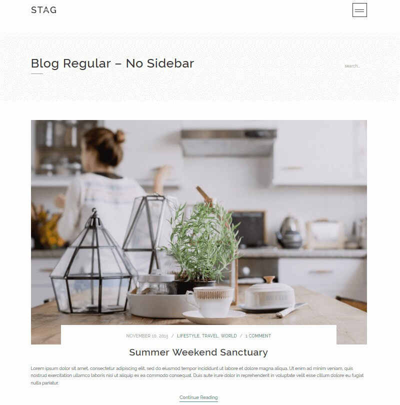 Stag: A WordPress Theme Offering Endless Portfolio Design