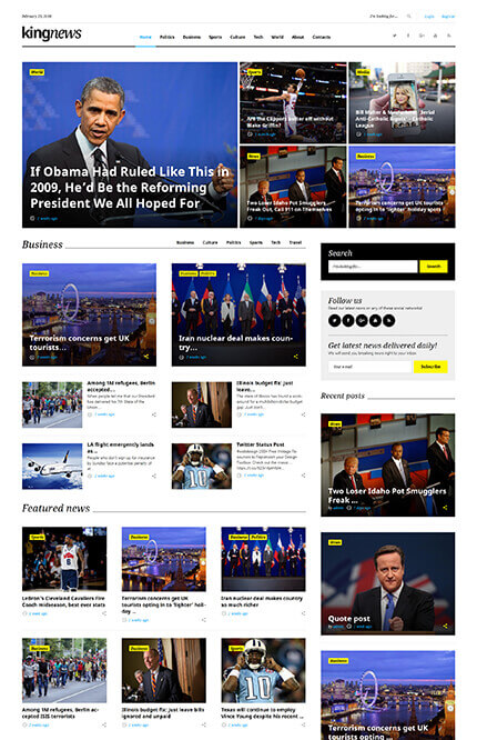 KingNews - Magazine, Newspaper and Blog