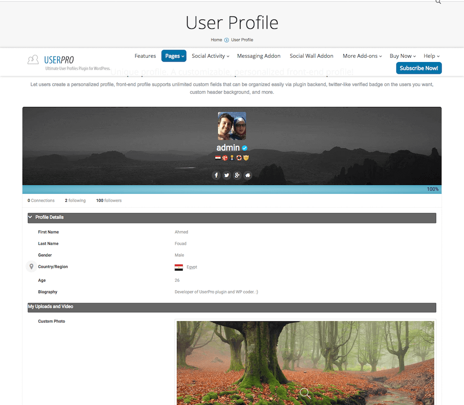 user_profile