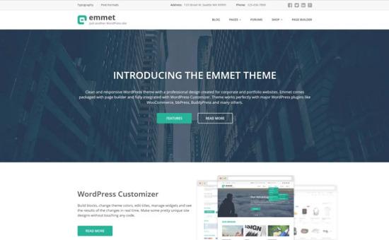 Emmet Business WordPress Theme