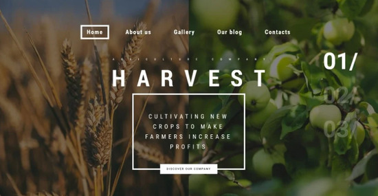 Harvest Agriculture WordPress Theme