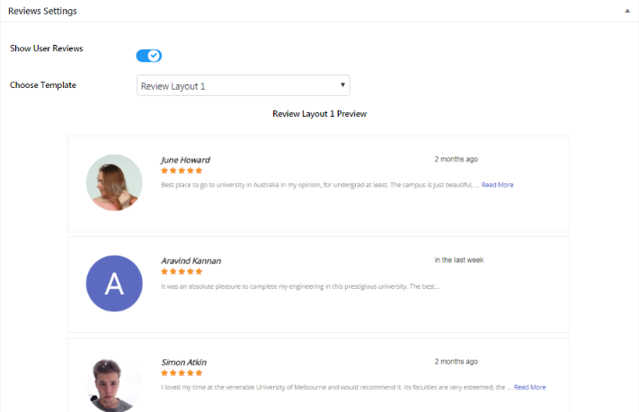review templates